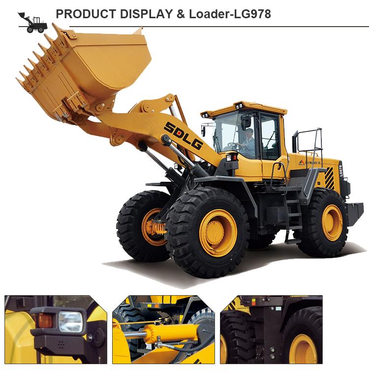 Pá carregadeira LG978 SDLG Fábrica Diretamente barato preços