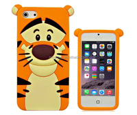 Cute 3D Cartoon Soft Silicone Rubber Case Cover Skin For Apple iPhone 5s, 5, 5C - (Winnie - Tigger)