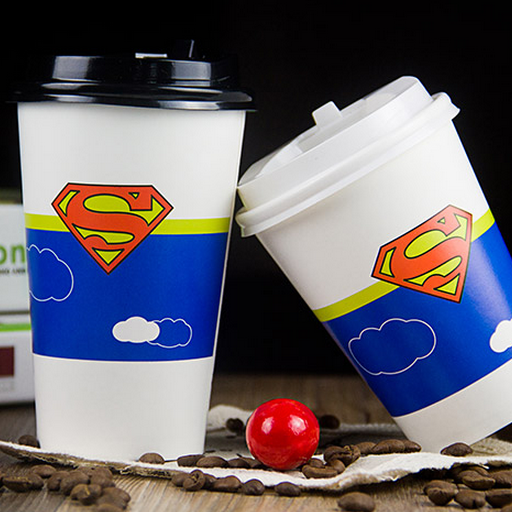 Biodegradable Disposable hot Drink Coffee Paper Cups with lids and Sleeves