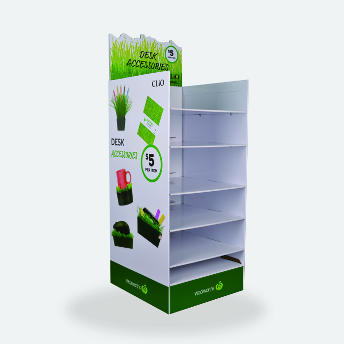 Woolworth Supermarket Promotion Cardboard Retail Display Stands for Gifts