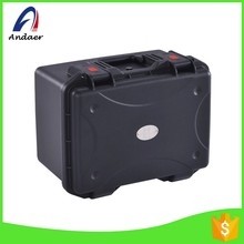 Black color commercial plastic storage container,plastic storage box with handle
