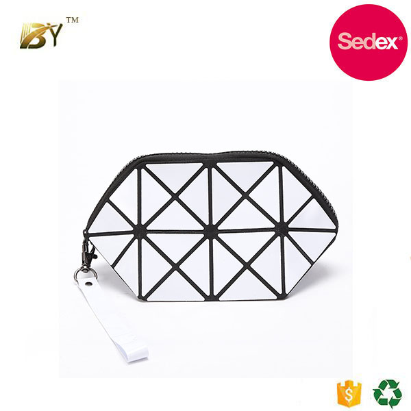 Sedex audit factory Hot sale fashion mini Geometry block Cosmetic Bag small bag