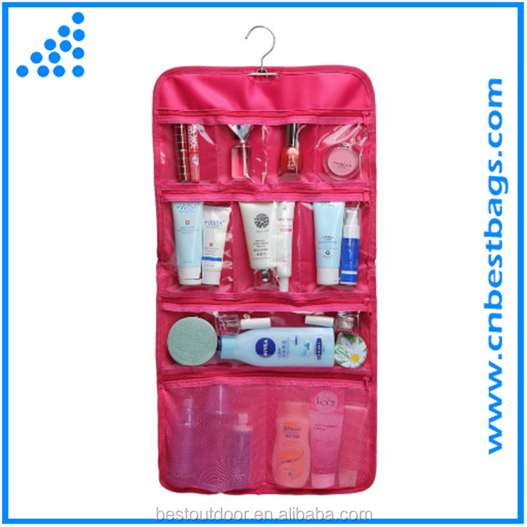 Legend Transparent PVC Hanging Travel Toiletry Cosmetic Organizer Storage Bag