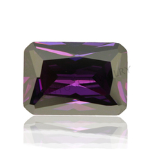 Amethyst 8*12mm rectangle shape polishing cubic zirconia