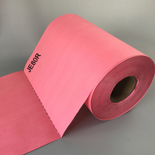 Red 40X80 PP Nonwoven Enchanced Industrial Cellulose Paper Wipes