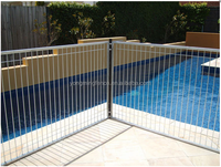 Hot dipped Galvanized Flat Top Swimming Pool safety fence Panel / Swimming iron temporary fence / Steel pool panels