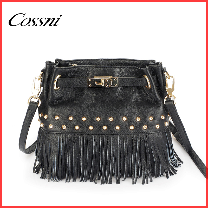2016 hot selling tassel bucket bag factory direct pricing for designer handbags ladies polo classic shoulder bag