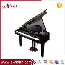 Digital Piano/88 keys Black Polish Concert Grand Piano (DP915T)