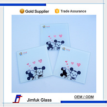 Customized tempered glass, flat and arris edge glas, wall switch glass panels