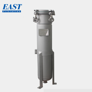 Shanghai manufacturer SS316 stainless steel industrial filtering equipment liquid bag filter housing machine