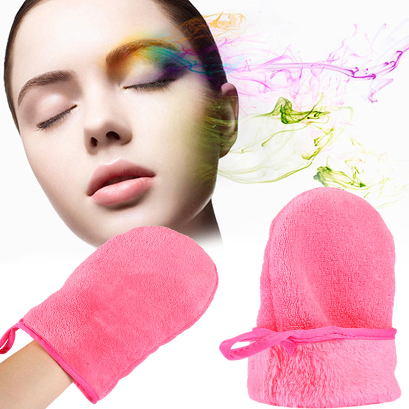 Made in China cheap glove make up remover microfiber
