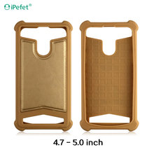 Universal size TPU+Leather mobile back cover for smartphone