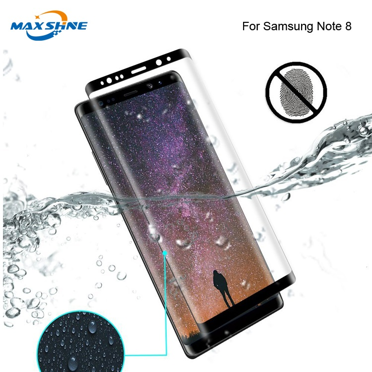 Maxshine 3D Curved Tempered Glass Anti Scratch Screen Protector For Samsung Note 8