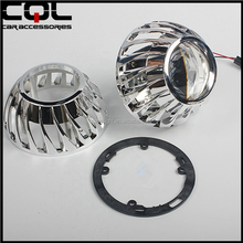 CQL Auto Parts 2.5 Inch HID Projector Shroud /Cover with led angel eye for Xenon angel eye Projector Lens Car Headlamp