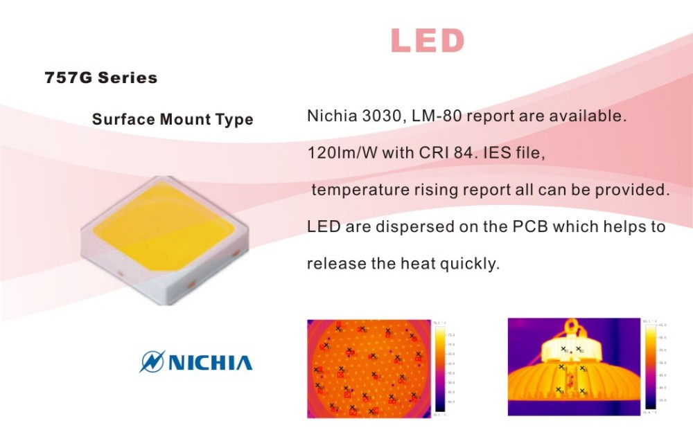 CE/ROHS Nichia chip & Meanwell UFO industrial highbay 150w led high bay light