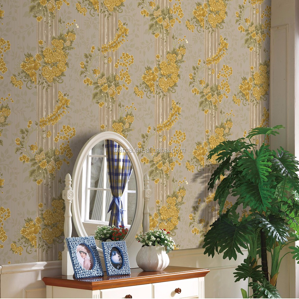full size wallpapers flowers design embossed 450g/sqm wallpaper