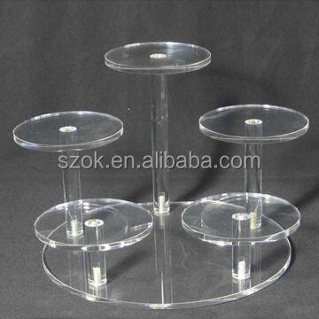Clear round acrylic shoes display rack,acrylic shoe rack wholesale