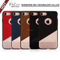 Durable PU and TPU leather Back cover case with electroplate workmanship for iphone7