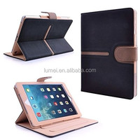 Black & Tan Magnet Leather Case Cover For Ipad Air 2