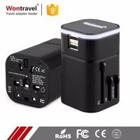Wontravel US UK EU AUS Plug Adaptor International Dual USB Charger Travel Adapter Plug Outlet