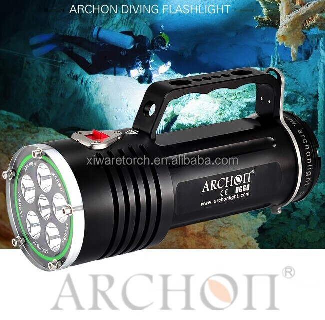 New product ARCHON WG66/W51 5000lumen rechargeable 5 xml led U2 cave diving torch