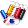 Outdoor camping EDC tool waterproof bottle aluminium pill Box Metal drug Container keyring