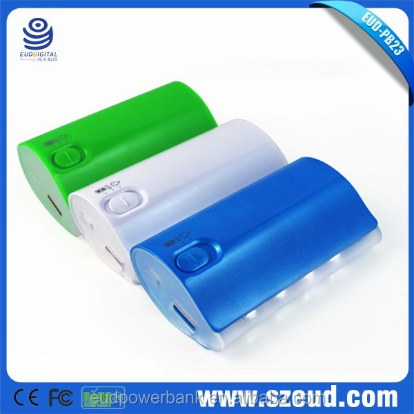 EUD-PB23 High capacity 5V/1A fast charge 6000mAh CE RoHS FCC small rechargeable power bank for business, corporate