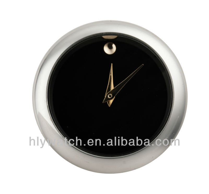 50mm black dial silver bezel quartz movement clock insert