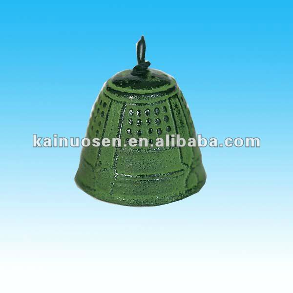 green japanese country style ceramic wind bell