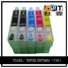 T1151,T1032-T1034 2BK compatible ink cartride for epson TX110 refill cartridge
