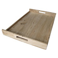 BSCI&FSC custom decorative handmade rustic wooden tea tray with handle