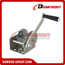 stainless steel hand crank winch manual small hand winch with auto-locking