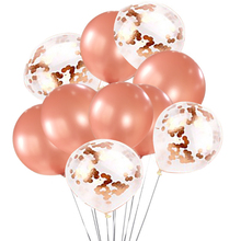 Wholesale wedding decoration latex balloon rose gold party confetti balloon