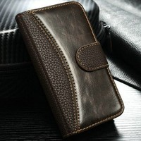 High quality 2 in 1 leather case for iphone 4s Wallet case for iphone 4