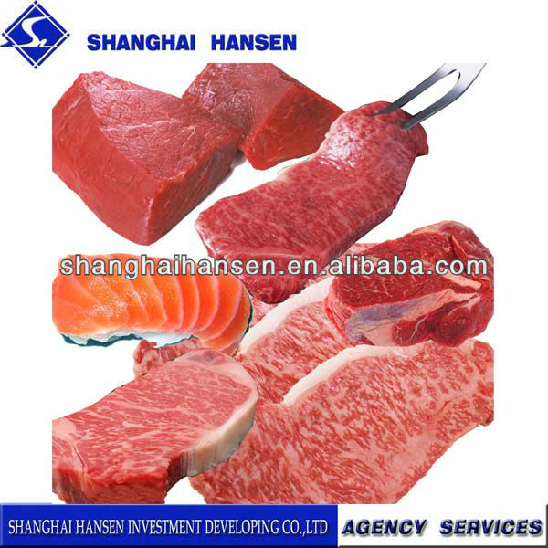 Horse meat import and export agency services for customs declaration
