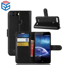 Litchi Grain Premium PU Wallet Leather Case For Leagoo Kiicaa Power