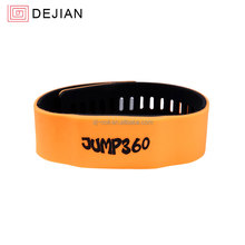 hf 13.56mhz nfc silicone bracelet programmable rfid wristband adjustable s50 1k / ntag213 / ntag215