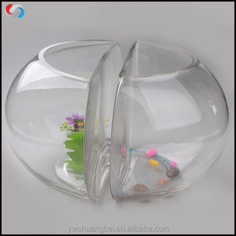 Double Creative Design goldfish bowl Fish Farming Tank Fish Bowl,Aquarium Clear Fish Tank,Decorative Mini Glass aquarium