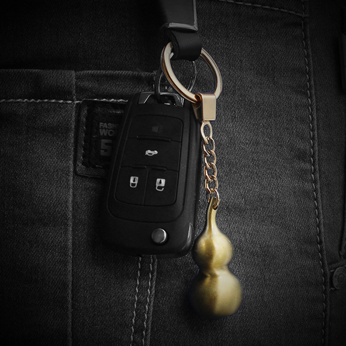 Chinese loveliness 3D Gold Calabash Keychain with your logo for car <strong>keys</strong>