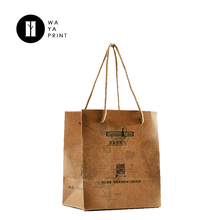 Cheap shopping Special bottom custom small kraft paper bag with logo print