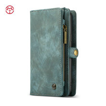 CaseMe For iPhone 7 Case,For iPhone 7 Wallet Case,4 Card Slots Magnetic Flip Wallet Case PU Leather Hand Cover for iPhone 7