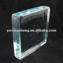 building decorative glass solid block