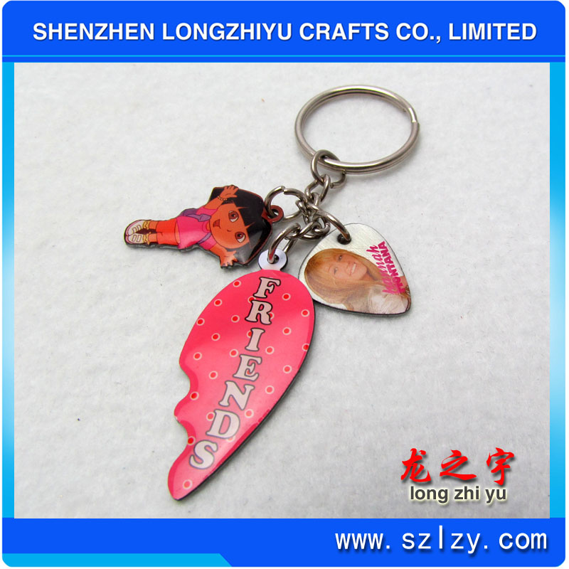 Promotion present custom digital photo key chain