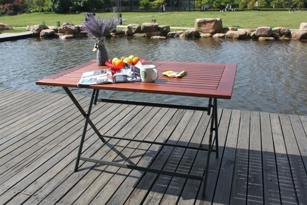 1.2m solid wood folding dining table