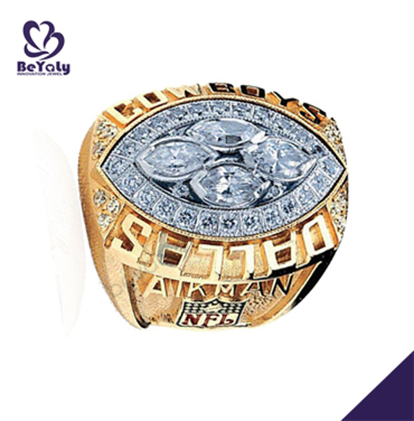 1993 Dallas Cowboys Aikman brass stamp ring