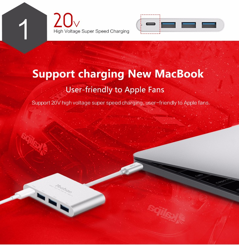 YOOBAO USB 3.1 GEN14 port HUB Type- C for Macbook