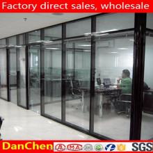 easy to assemble office wooden cubicle glass partitions outside