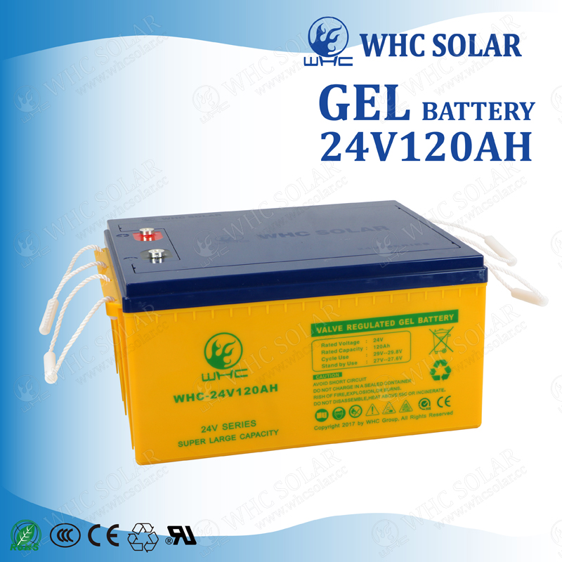 Excellent deep discharge solar battery 24V 120AH Deep Cycle Battery