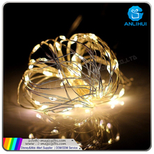 Christmas holiday celebration mini rice battery operated copper wire firefly light