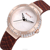 SKONE 9344 cheap Lady Watch / Genuine Leather Bracelet Shining Stones watch